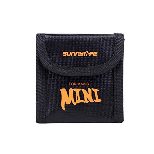 L9WEI - Funda portátil para DJI Mavic Mini, protección de batería, bolsa de seguridad, bolsa de almacenamiento protectora para dron, pilas ignífugas, protección contra explosiones (negro, B)