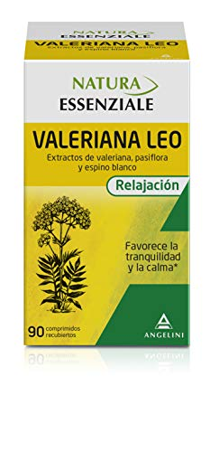 NATURA ESSENZIALE Valeriana Leo - 90 comprimidos - Favorece la tranquilidad y la calma - Complemento alimenticio con extractos de valeriana, pasiflora y espino blanco. A partir de 12 anos.