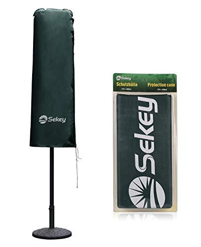 Sekey Funda para sombrilla, Doble Dos Cubiertas para Sonnenschirm, 100% poliéster, Verde