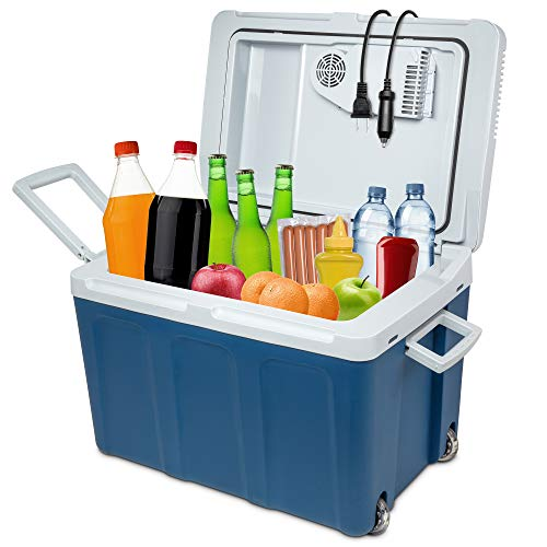 Ivation Electric Cooler & Warmer with Wheels |48...