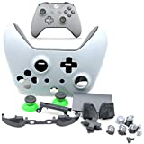 Deal4GO Full Housing Shell kit with Full Button Set Thumbstick Replacement for Xbox One Wireless Controller 1708 Grey/Green