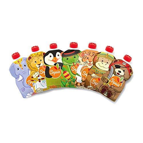 170ml Poche Alimentaire pour Compotes Pur/ées pour B/éb/é Enfant Sans BPA Ecologiques /& /Économiques Souples et Robustes Va au Cong/élateur /& au Lave-Vaisselle Lot de 10 Gourdes R/éutilisables