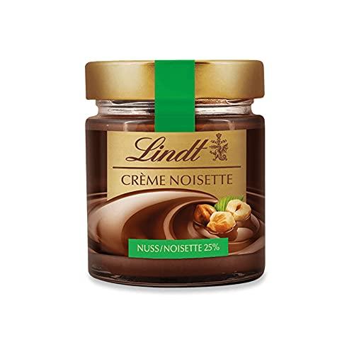 Lindt Brotaufstrich Crème Noisette | 220g Haselnusscreme im Glas | Schokoladen Brotaufstrich mit 25{68e14a5c1b297e7d56bc3ab98e29686f7240e8d93a26539a8406fedb7d17a4f3} Haselnuss | feinste Lindt Schokolade