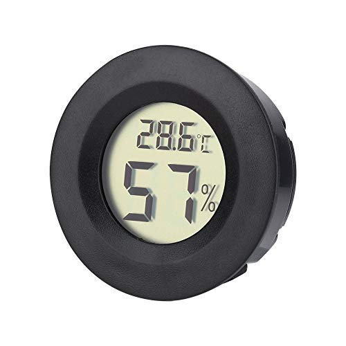 Atyhao Luchtbevochtiger, vochtmeter, mini-hygrometer-thermometer, digitale LCD-monitor voor luchtbevochtiger, luchtontvochtiger, kas, kelder, babykamer, Fahrenheit of Celsius