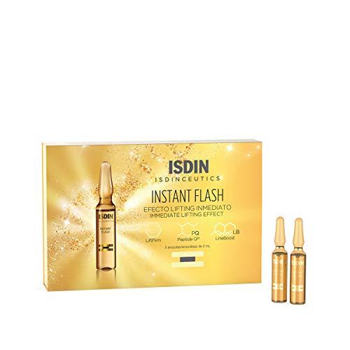 ISDIN Isdinceutics Instant Flash, Fiale con effetto lifting immediato   Elimina rughe e linee d'espressione con azione immediata   5 fiale