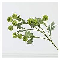 造花 シミュレーションPEフルーツ小型のハナジャー単一の枝松のコーンボールの家の装飾偽物人工的な偽の花 (Color : Light Green)