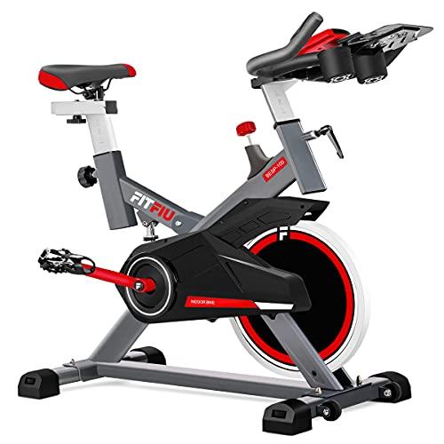 FITFIU BESP-100 - Bicicleta Indoor con disco inercia 16kg, resistencia regulable, sillín y man...