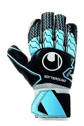 uhlsport Soft HN Comp Guantes de Portero, Juventud Unisex, Black/Sky Blue/White, 7