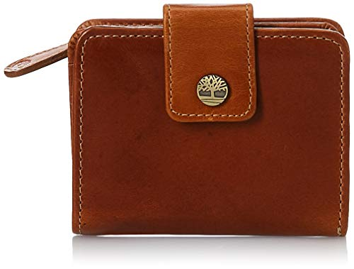 Timberland womens Leather RFID Small Indexer Wallet Billfold, Cognac, One Size US