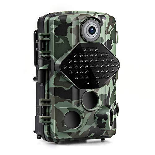 usogood Caméra de Chasse Infrarouge Invisible avec Carte 32G 20MP 1080P Vision Nocturne 46 Low Glow IR LED de 940nm Camera de la Faune Surveillance, IP66 Étanche à l'eau et à la Poussière