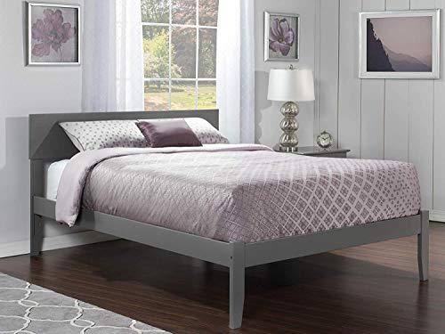Atlantic Furniture Orlando Platform Bed, Queen, Atlantic Grey