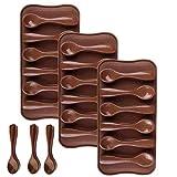 LIMEOW Stampo per Cioccolatini Cucchiaini Stampo in Silicone per Alimenti per Realizzare cucchiai in Cioccolato Cioccolato Muffa Candy Mold 3 Pezzi per Cioccolata,Caramelle, Cioccolato, Ghiaccio