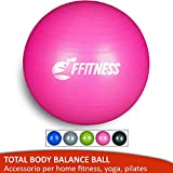 FFitness Total Body Balance Ball per Ginnastica prenatale | Big Gymball (55 65 75 85 95 cm) antiscoppio...