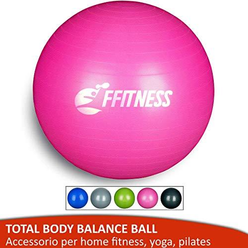 FFitness Total Body Balance Ball para gimnasia prenatal, Big Gymball (55 65 75 85 95 cm) antiestallidos para Core Stability, ejercicios abdominales, resistencia, fortalecimiento