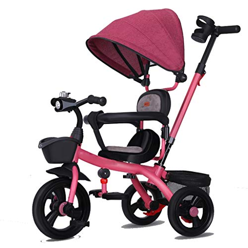 Why Choose Tricycle Kids Trike, 3 Wheel Baby Childrens Push Chair Handle Pedal Guided Toddler with M...