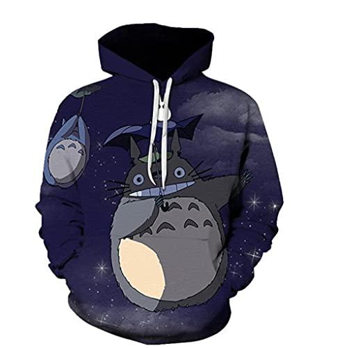Sudaderas con Capucha Anime Mi Vecino Totoro Sudadera Unisex Pulóver Sudadera Moda Hombres Manga Larga Prendas De Vestir Exteriores Impreso Tops Estilo 4 5XL