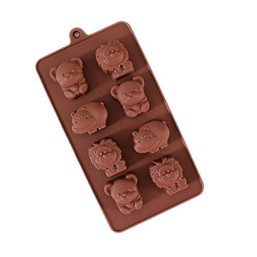 Babarella Backformen aus Silikon 2er Set Tier Figur antihaft schadstofffrei für Schokolade, Süßigkeiten, Kuchen, Pudding, Gelee und Waffel