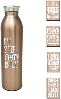 Slim Stainless Steel Double Wall Insulated 20 oz Water Bottle