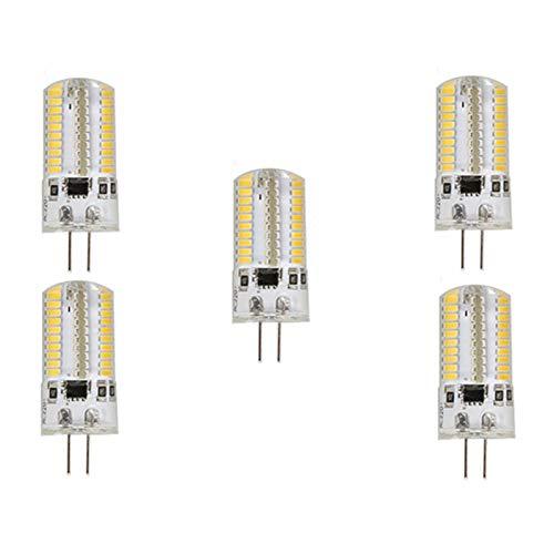 Lampade a led Lampada LED G4 / G9 / E12 / BA15D LED Corn Lights 4W T 80 SMD 3014 300 Lm Bianco caldo/Bianco freddo AC 100-130 V 5Pcs Sostituisci le lampadine a LED (Color : Cool white)