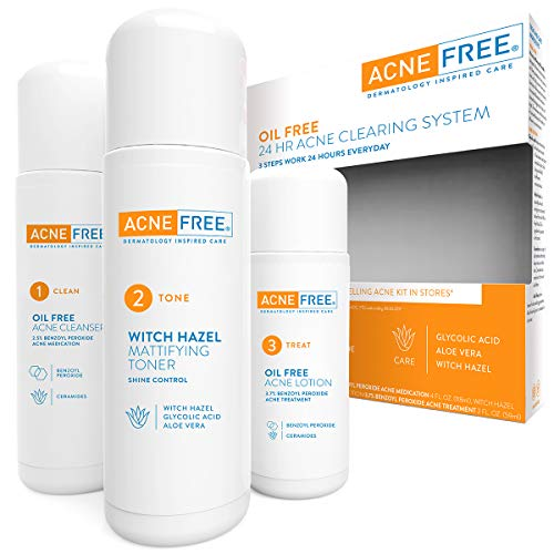 Acne Free 3 Step 24 Hour Acne Treatment Kit