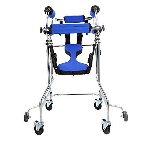 ZXQ Rollator Gehhilfe Stehen Laufgestell Aids for Ältere Menschen Behinderte Mit Doppelachsel Unterstützung Und Bremsfunktion U-förmige Infusionsständer Höhe/Breite Verstellbar 6 Räder