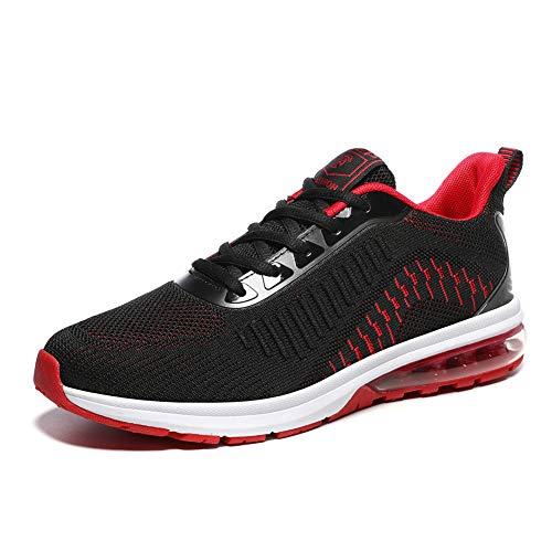 NIIVAL Fitness Laufschuhe Atmungsaktiv rutschfeste Mode Sneaker Basketballschuhe Sportschuhe (43 EU, rot)