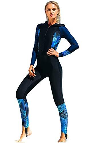 BOLAWOO-77 Långärmad baddräkt för damer baddräkt UV-skydd dräkt kvinnor modemärken passar UPF> 50 baddräkt mode strand baddräkt