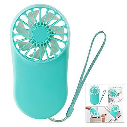 iwobi handventilator draagbare mini ventilator elektrische USB hand- oplaadbare ventilator met 3 modi (blauw)