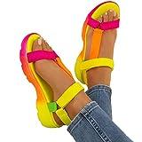 XIEZI 2020 Sandalias de Plataforma Sandalias de Mujer Fondo Suave de Verano Cómodo y versátil Zapatos de Playa romanos simples Playa Sandalias Planas para Mujer Sandalias casuales40