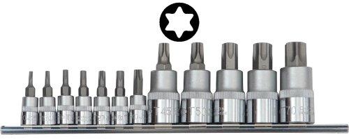Famex Werkzeug 10716 Bit-Einsätze für Torx-Schrauben, T-10 - T-70, 12-teilig
