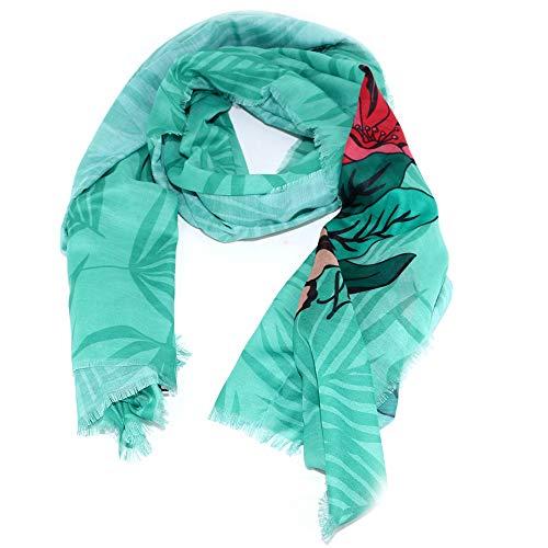 Liu Jo sjaal rechthoekig flower 3A0025 T0300 nile blue