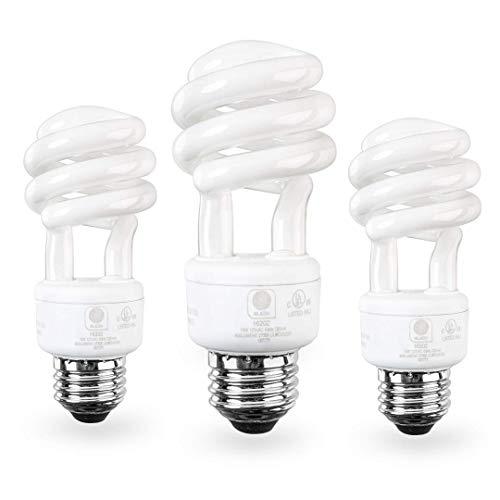 SleekLighting E26 Medium Screw Base 13Watt CFL Light Bulb - 3 Pack, 2700 Kelvin for Warm White and 800 Lumens (65 Watt incandescent Light Bulb Equivalent) - UL Listed