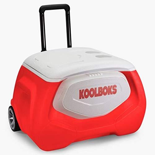 Koolboks Glacière Isotherme Révolutionnaire 28L Enceinte Bluetooth 10 Watts Waterproof Portable à Roulette...