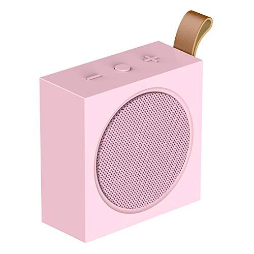 HIOD YP-2 Bocina Bluetooth Inalámbrico Mini Portátil Al Aire Libre Altavoz Bluetooth 4.2 Micrófono Incorporado 10h de Tiempo de Juego,Pink