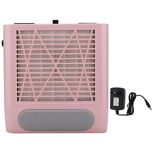 Aspirador de clavos, limpiador de succión de polvo de clavo, colector de polvo de clavo de succión de la máquina profesional de colector de polvo de succión de 80W(Enchufe rosa de la UE)