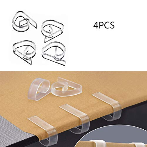 WYZTLNMA Pinces à nappe en plastique, support de pinces en tissu pour couverture de table pour la fête à la maison et pique-nique.( Transparent/Blanc) (B)