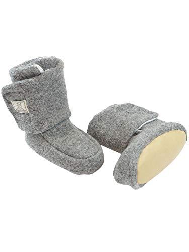 PICKAPOOH Baby Bio-Walkschuhe Treter, Grey, Gr. 1 Schuhgröße 16-18
