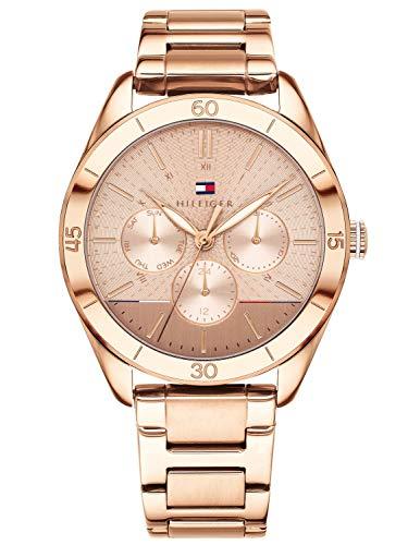 Tommy Hilfiger Unisex Multi Zifferblatt Quarz Uhr mit Edelstahl Armband 1781884