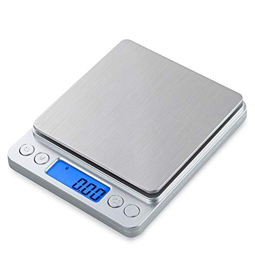 LQCHH Escala de Cocina Digital Cocina electrónica Escala de Alimentos Herramientas de medición Mini Bolsillo Escala de joyería, Plataforma de Acero Inoxidable práctico
