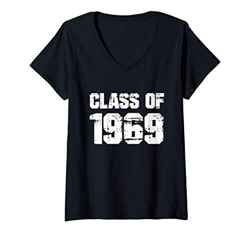 Mujer Regalo de la reunión de graduación de la escuela secundaria Camiseta Cuello V