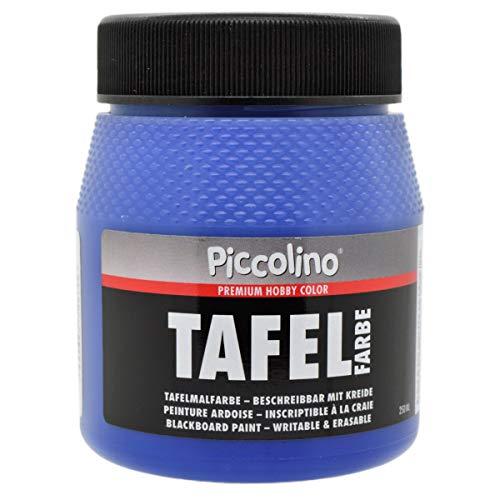Tafelfarbe Blau 250ml - Piccolino Tafellack bunt für Holz, Karton, Wand