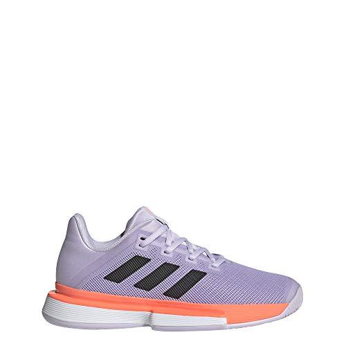 Adidas SoleMatch Bounce W, Zapatillas Tenis Mujer, Morado (Purple Tint/Core Black/Signal Coral), 40 EU