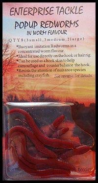 et pop up red worms