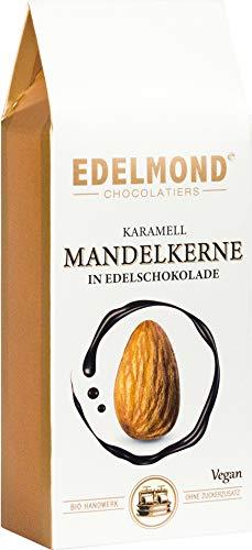 Kandierte Mandel in Schokolade. Bio. Knackig und lecker, Vegan und Laktosefrei. 125g