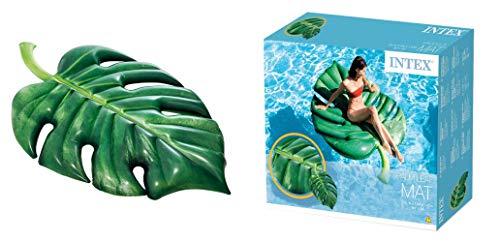 Lively Moments Luftmatratze grünes Palmen Blatt / Lounge / Schwimmmatratze / Badematratze ca. 213 x 142 cm