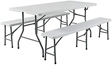 Best folding table with bench seats Reviews