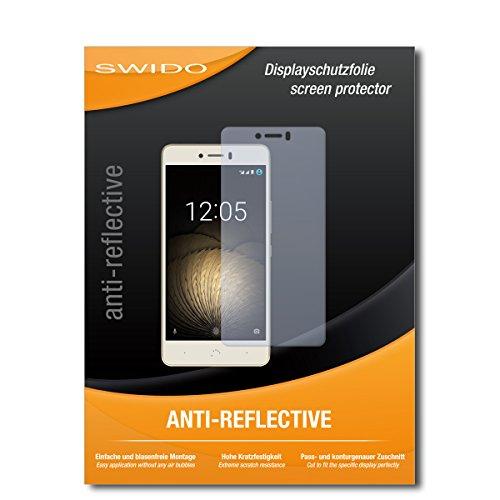 SWIDO Bildschirmschutzfolie für BQ Aquaris U Plus [3 Stück] Anti-Reflex MATT Entspiegelnd, Extrem Kratzfest, Schutz vor Kratzer/Bildschirmschutz, Schutzfolie, Panzerfolie