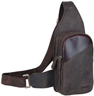 Genda 2Archer Men's Leather Satchel Bag Crossbody Bag One Size Brown