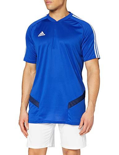 adidas TIRO19 TR JSY Camiseta de Manga Corta, Hombre, Bold Blue/Dark Blue/White, M