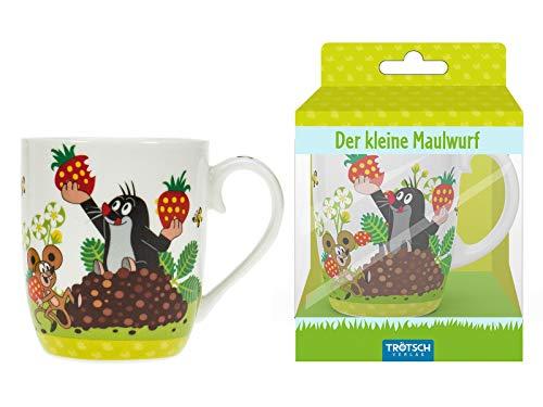 Trötsch Der kleine Maulwurf Kindertasse Erdbeere: Geschenktasse aus Porzellan (Geschirr)